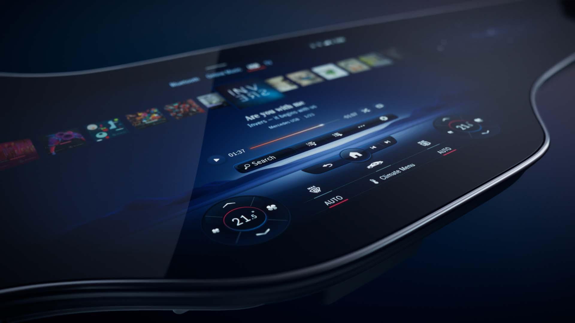 Mercedes-Benz EQS presentará el MBUX Hyperscreen de tablero completo
