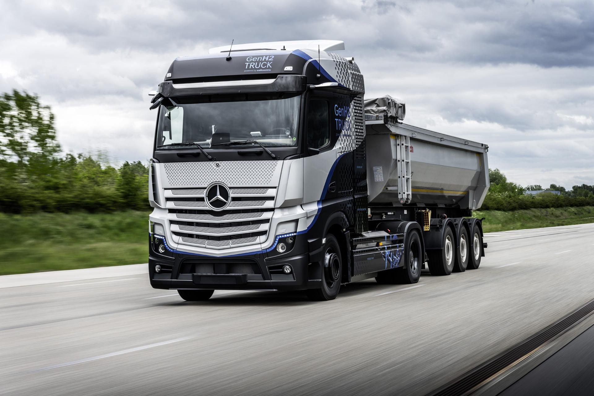 Mercedes-Benz semi-eléctrico de hidrógeno comienza las pruebas